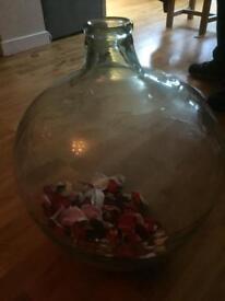 Large wine making decanter/vase