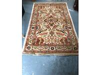 Beautiful quality wool hand tied rug in pristine condition