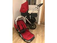 Pushchair - with carrycot Uppababy