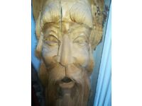 Beautiful Hand Carved Green Man Statue