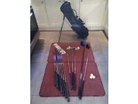 Letts Golf, men's full size, right handed golf set, with flip stand bag.