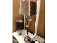 brown velvet tall table lamp