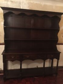 Antique solid oak welsh dresser