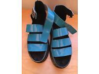 Blue dr marten sandals size 6/39