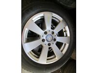 "GENUINE MERCEDES C CLASS 16""ALLOYS WITH OR WITHOUT TYRES"
