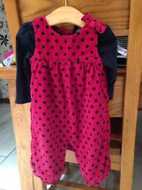 2 x Dungaree Sets, both 6-9 months