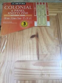 Brand New Pine panelled Internal door