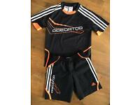 Adidas predator shirt and shorts set