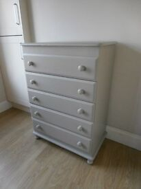 Drawers pine upcycled painted grey-REDUCED!!