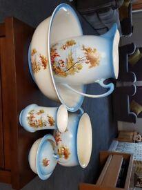 Wash jug, Bowl, soap dish and chamber pot