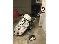 Nike Golf bag and trolley