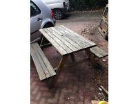 Pub style garden bench