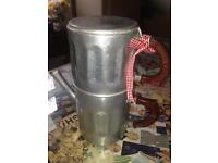 1950's Vintage French Coffee Pot and Strainer