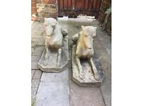 Pair of greyhound statues