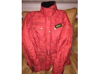 Ladies Barbour Jacket Size 8 (Red Quilted)