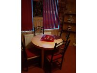 Dining table and 4 dining chairs