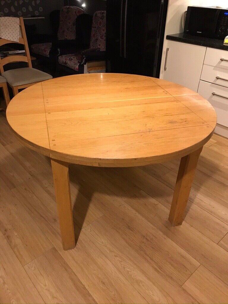 john lewis oak bordeaux extending dining table and 4