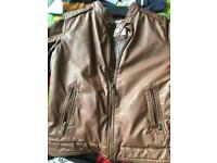 Zara boys imitation leather jacket