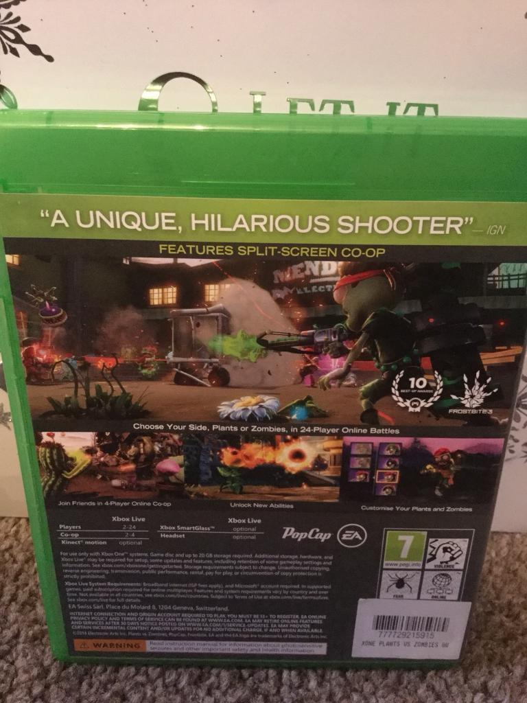 Xbox one Plants vs Zombies GardenWarfare game   in Pontypridd ...