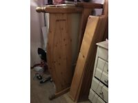 Double Solid Pine bed frame