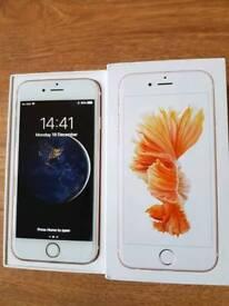 Rose Gold IPhone 6s 32gb network unlocked