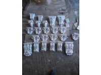 assorted ornate plaster corbels