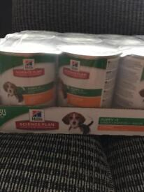 Hills Puppy food (11 cans)