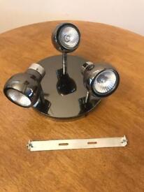 Black nickel halogen light fitting