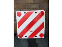 Caravan or camper hazard warning sign. Large with reflectors. used but very good