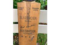 Cricket Bat - Bob Simpson Autograph- Slazenger