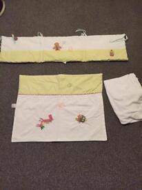 Cradle bumper set and sheet