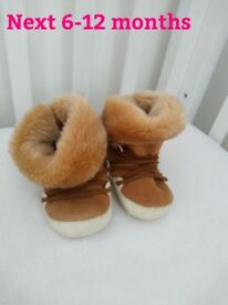 Next booties 6-12 months great condition