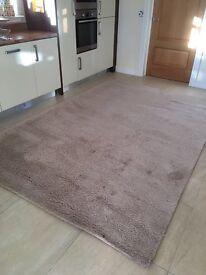 Large Wool Pile Rug 200x300cm Cream / Neutral