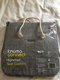 Knuma connect grey high chair seat cushion