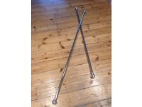 Extendable Chrome Curtain Poles x 1. Only one left now