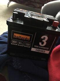 Halfords 12V car battery