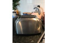 Silver Russell Hobbs toaster
