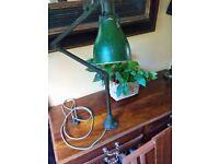 Vintage industrial 3 arm Invisaflex articulating machinists lamp