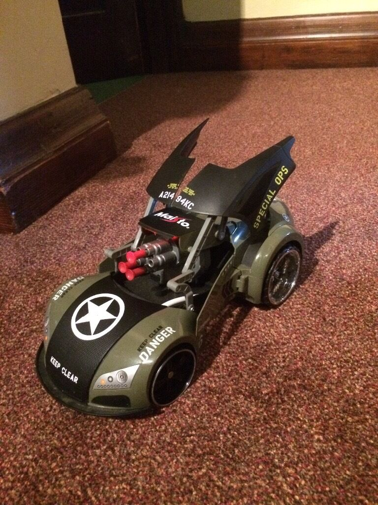 Cheap shooting car great conditionin Romford, LondonGumtree - Selling cheap shooting car in great condition it is good as new. This car shoots bullets and has a light quite fast. Accepting offers