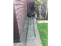 COARSE FISHING LANDING NETS WITH ASSORTED LANDING NET HANDLES / POLES (QTY 3)