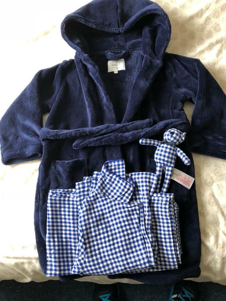 Junior j dressing gown & pyjama set age 4-5 new without tags | in ...