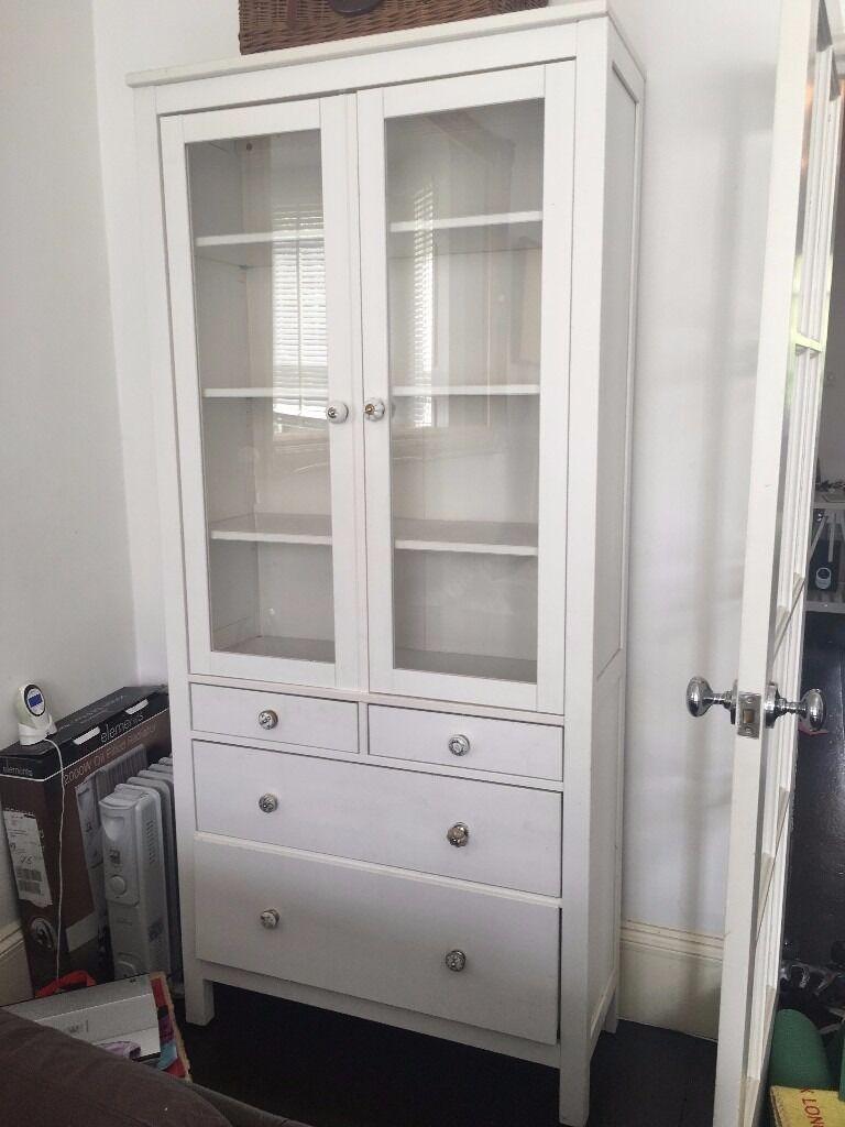 Ikea hemnes glass door cabinet with drawers in ney london