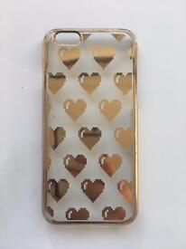 Topshop skinny dip foiled gold heart phone case