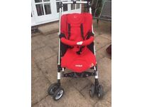 Red Maxi-Cosy Stroller. Well used but good condition.