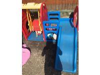 Little tykes toddler swing and slide set