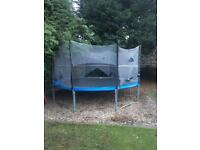 plum Trampoline 13ft good condition needs new enclosure