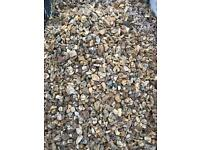Ton bag of golden decorative stone