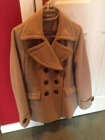 Wallis Camel Car Jacket - Size 14