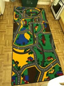 Play rug for toy cars and vehicles