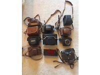 Retro vintage camera cases